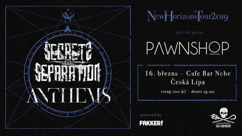 Anthems + Secrets of Separation - New Horizons tour 2019 - Česká Lípa