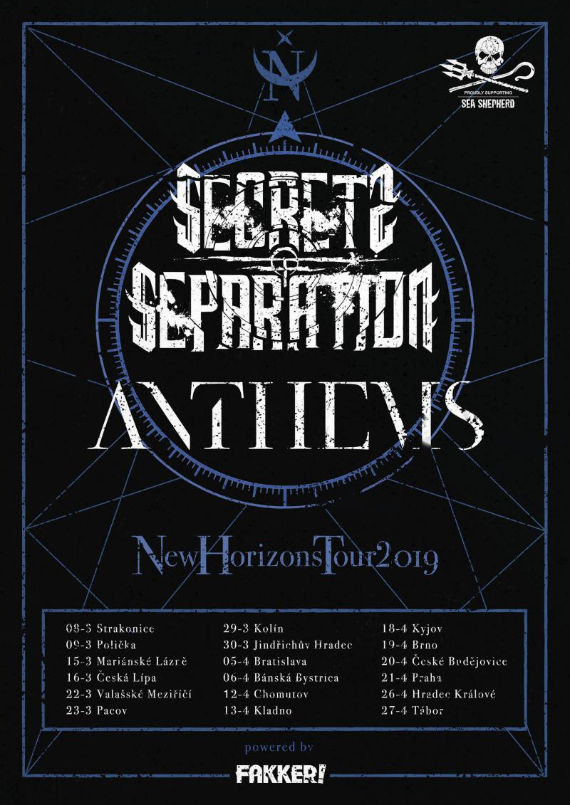 Anthems + Secrets of Separation - New Horizons tour 2019 - Kyjov